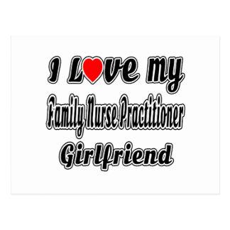 I Love My Family Nurse Practitioner Girlfriend Postcards