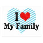 I Love My Family Post Card