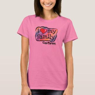 I Love My Family Rainbow t-shirt