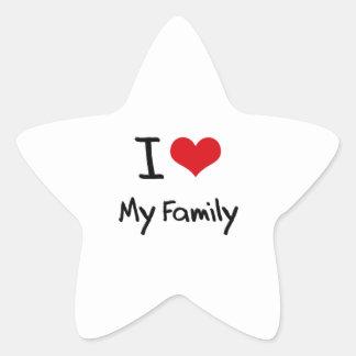 I Love My Family Star Sticker