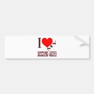 i love my family tree. car bumper sticker