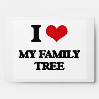 I Love My Family Tree Envelopes