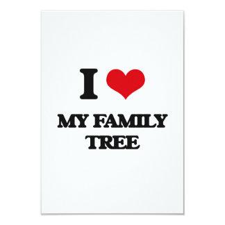 I Love My Family Tree 3.5x5 Paper Invitation Card