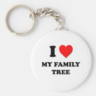 I Love My Family Tree Basic Round Button Keychain