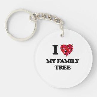 I Love My Family Tree Single-Sided Round Acrylic Keychain