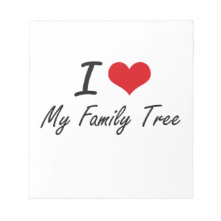 I Love My Family Tree Memo Note Pads