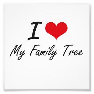 I Love My Family Tree Photo Print