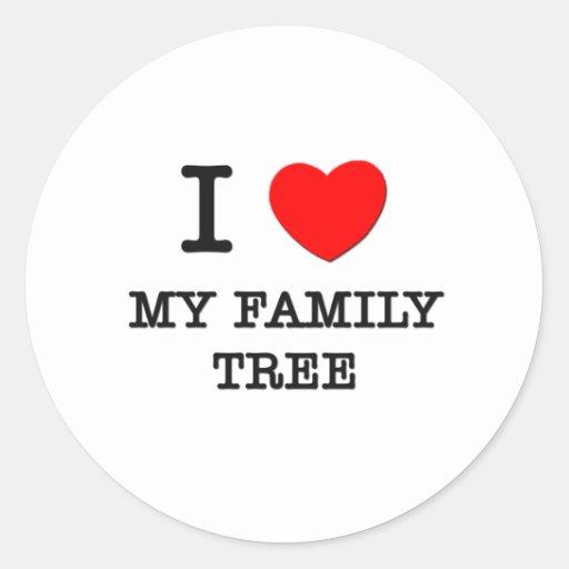 I Love My Family Tree Sticker