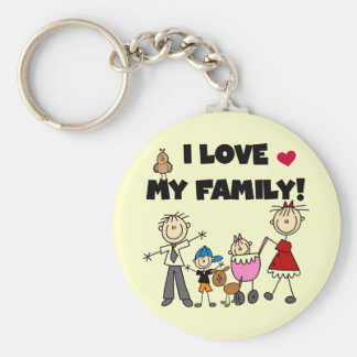 I Love My Family Tshirts and Gifts Keychain