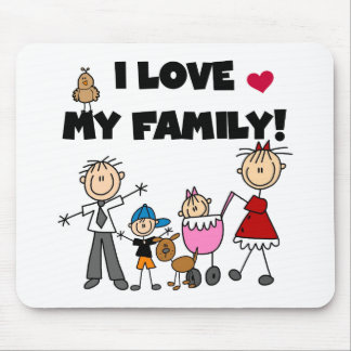 I Love My Family Tshirts and Gifts Mouse Pad