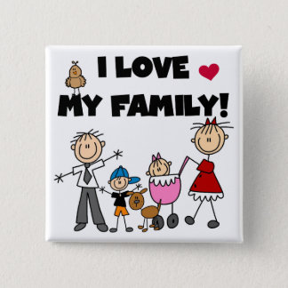 I Love My Family Tshirts and Gifts Pinback Button