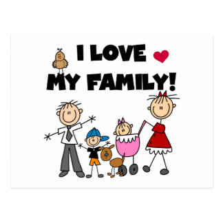 I Love My Family Tshirts and Gifts Postcard