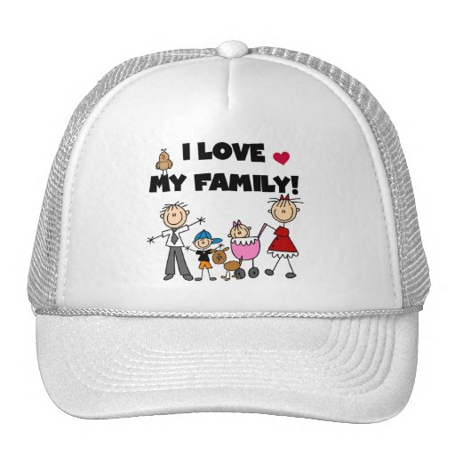 I Love My Family Tshirts and Gifts Trucker Hat
