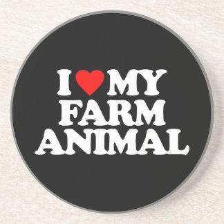 I LOVE MY FARM ANIMAL COASTERS