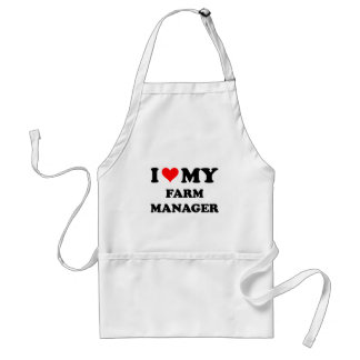 I Love My Farm Manager Aprons