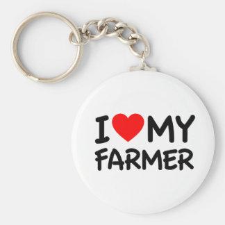 I love my farmer key chain