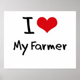I Love My Farmer Print