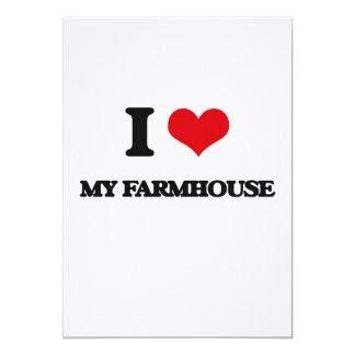 "I Love My Farmhouse 5"" X 7"" Invitation Card"