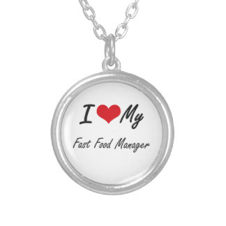 I love my Fast Food Manager Round Pendant Necklace