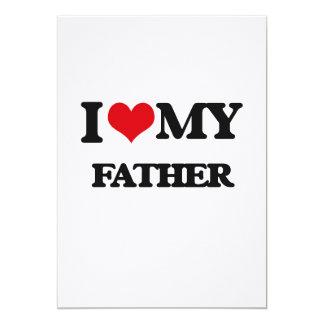 I love my Father 5x7 Paper Invitation Card