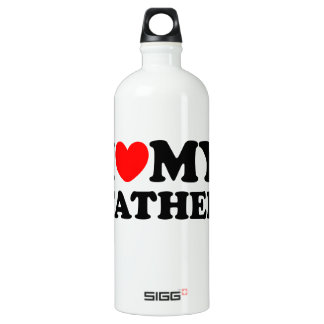I Love My Father Aluminum Water Bottle