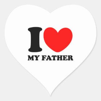 I Love My Father Heart Sticker