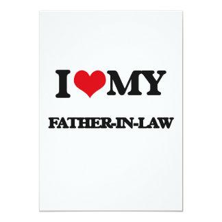 I love my Father-in-Law 5x7 Paper Invitation Card