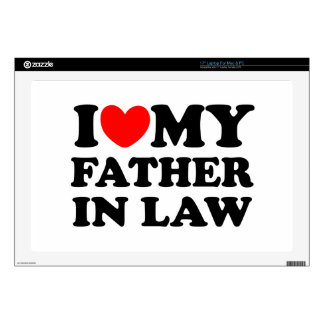 """I Love My Father In Law 17"""" Laptop Skins"""
