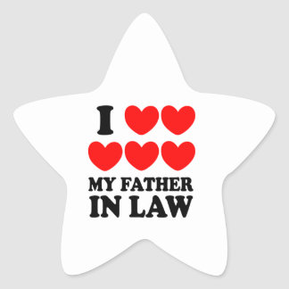I Love My Father In Law Star Sticker