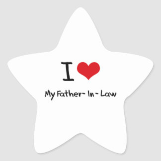 I Love My Father-In-Law Star Sticker