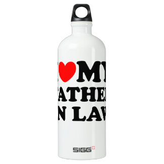 I Love My Father In Law Water Bottle