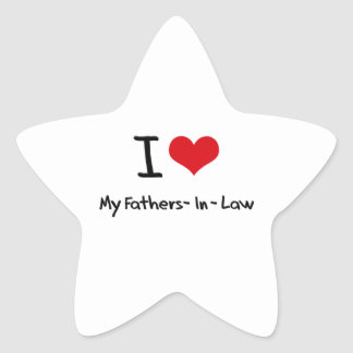 I Love My Fathers-In-Law Star Sticker