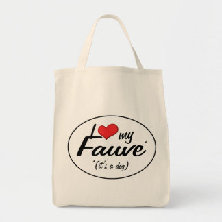 I Love My Fauve (It's a Dog) Canvas Bags