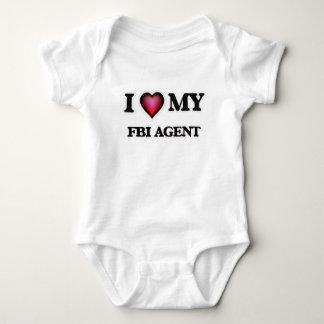 I love my Fbi Agent Baby Bodysuit