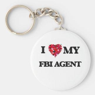I love my Fbi Agent Basic Round Button Keychain