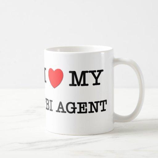 I Love My FBI AGENT Classic White Coffee Mug