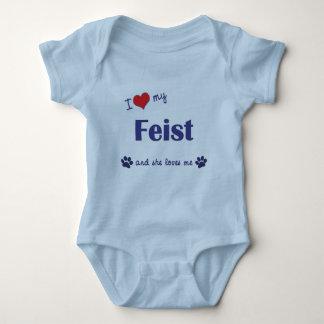I Love My Feist (Female Dog) Baby Bodysuit