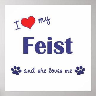 I Love My Feist Female Dog Print