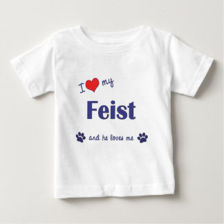 I Love My Feist (Male Dog) Baby T-Shirt