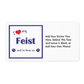 I Love My Feist (Male Dog) Label