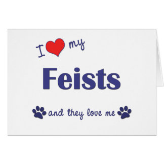 I Love My Feists (Multiple Dogs) Card