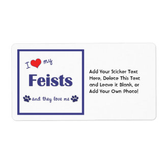I Love My Feists (Multiple Dogs) Label