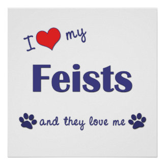 I Love My Feists Multiple Dogs Print