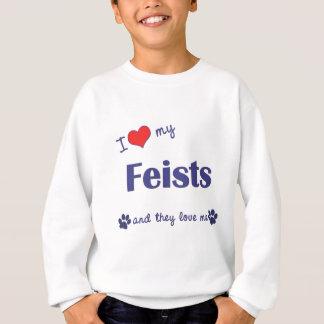 I Love My Feists (Multiple Dogs) Sweatshirt