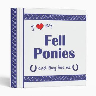 I Love My Fell Ponies (Multiple Ponies) 3 Ring Binder