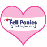 I Love My Fell Ponies (Multiple Ponies) Cut Out