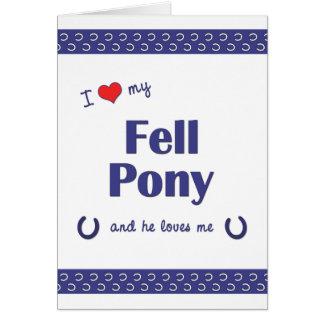 I Love My Fell Pony (Male Pony) Card