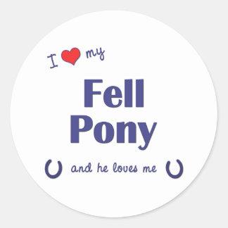 I Love My Fell Pony (Male Pony) Classic Round Sticker