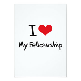 I Love My Fellowship Personalized Announcements