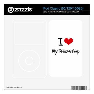 I Love My Fellowship iPod Skins